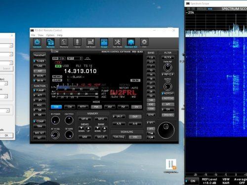 Impostazioni per l'utilizzo del RS-BA1 con Icom IC7300