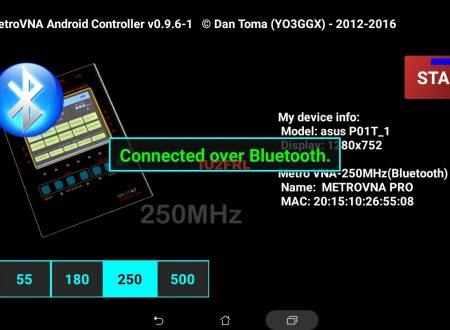 Connessione via Bluetooth del Metro VNA Pro