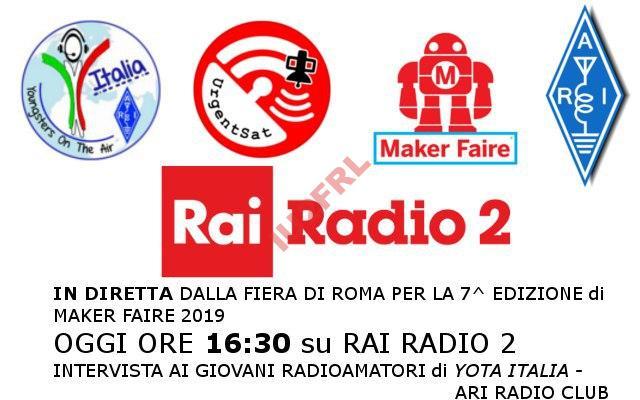 YOTA Italia in Diretta dal Maker Faire Roma 2019