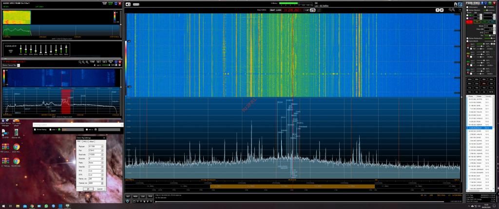 ELAD FDM-SW2 e ICOM IC-7300 con Panadapter