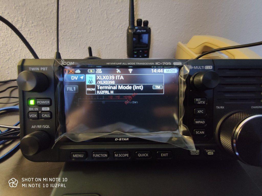 DSTAR DV-GW Terminal Mode su ICOM IC-705