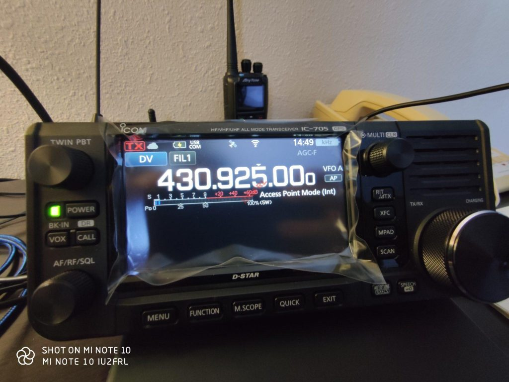 DSTAR DV-GW Access Point Mode su ICOM IC-705