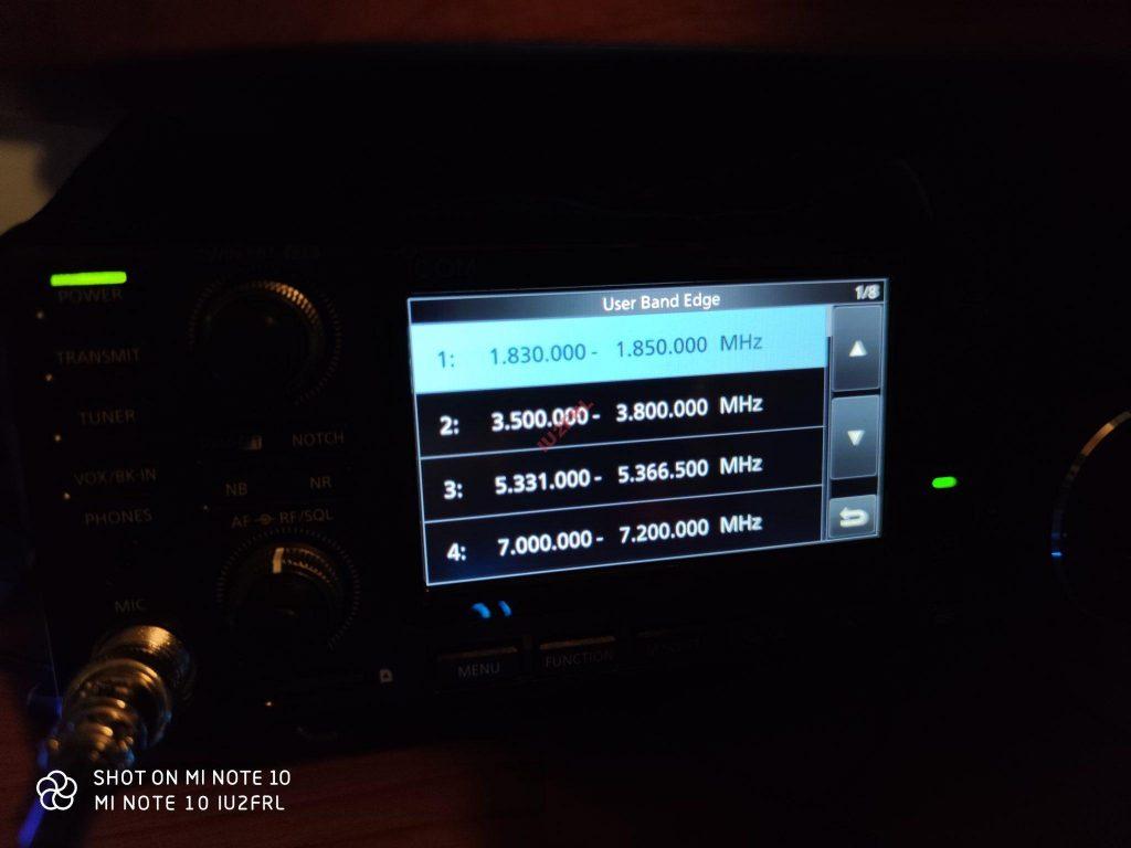 Abilitazione banda dei 60m (5MHz) su ICOM IC-7300