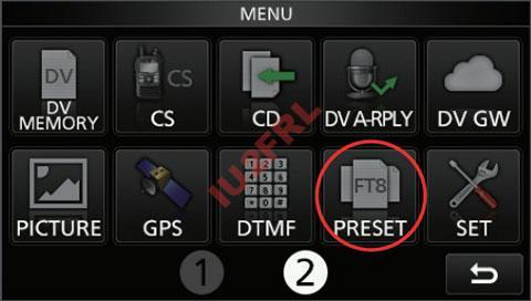 """Aggiornamento firmware Icom 705 e funzioni """"preset"""""""