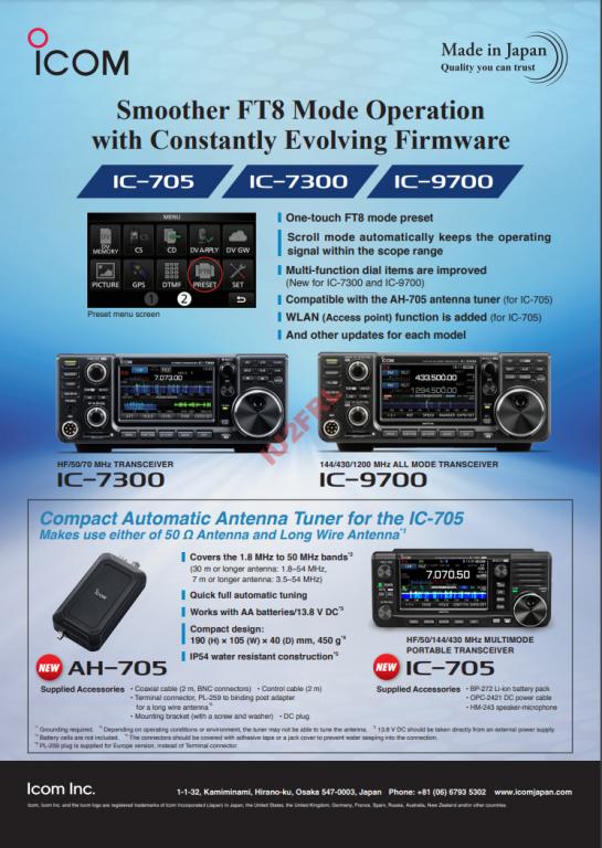 Funzione PRESET anche su IC-7300 e IC-9700