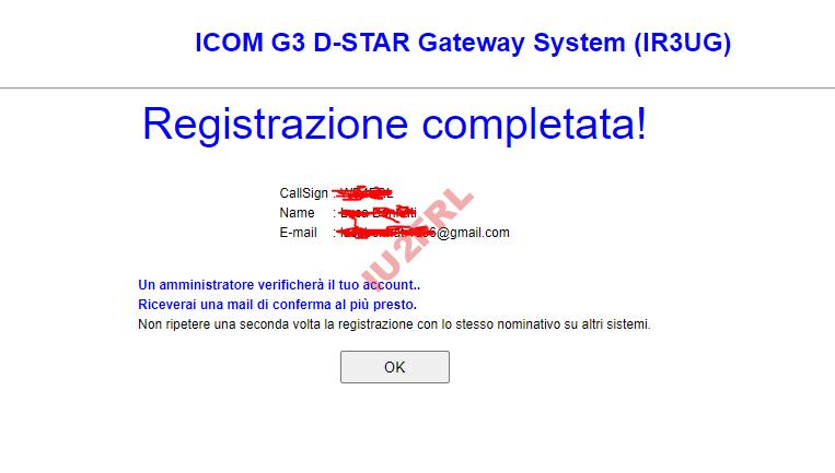 Istruzioni per registrarsi sulla rete DSTAR